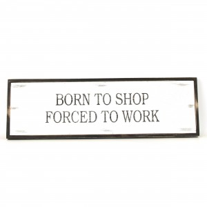 Quote Born to Shop