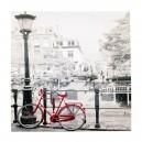 Canvas brug met fiets