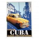 Canvas Cubaanse auto