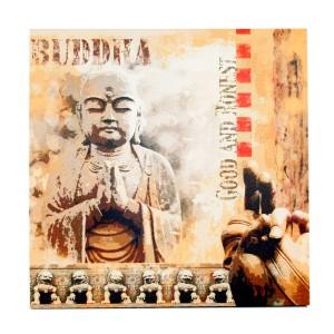 Canvas Boeddha good and honest