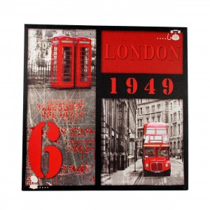 Canvas Londen rood