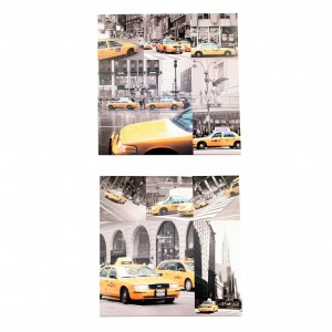 Assortiment Canvas taxi New York II en IV