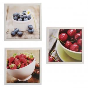 Assortiment afbeeldingen fruit