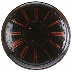 Zwart koperen metalen klok