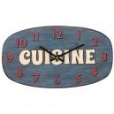 Vintage klok cuisine blauw