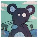 Kader blauwe muis